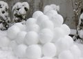 Snowballs group of in winter Royalty Free Stock Image