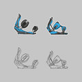 Snowboard attachment vector illustration of a linear style Royalty Free Stock Photography