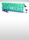 Snowboard challenge background d text with space Royalty Free Stock Photos