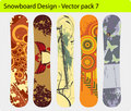 Snowboard design Stock Photo
