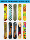 Snowboard design pack Royalty Free Stock Photo