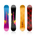 Snowboard design template illustration on white Royalty Free Stock Photo