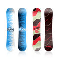 Snowboard design template illustration on white Stock Photo