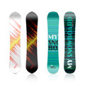 Snowboard design template illustration on white Stock Image
