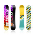 Snowboard design template illustration on white Royalty Free Stock Photography