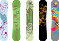 Snowboard designs Stock Image