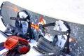 Snowboard equipment Stock Photo