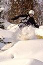 Snowboard freeride in Siberia Stock Photo