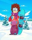 Snowboard resort holidays . Snow background. Flat