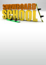 Snowboard school background promotion d text poster with space Royalty Free Stock Photography