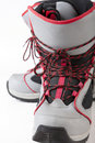 Snowboard shoes Royalty Free Stock Images