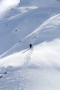 Snowboarder ascending for free ride see my other works in portfolio Stock Image