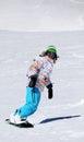 Snowboarder girl having fun Royalty Free Stock Photo