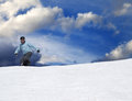 Snowboarder on ski slope Stock Photos