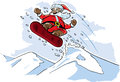 Snowboarding Santa Royalty Free Stock Photos