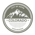 Snowbound Rocky Mountains - Colorado, Aspen Royalty Free Stock Photo