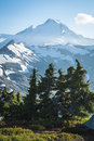 Snowcapped mount baker ptarmigan ridge washington state cascad on slopes of cascades Royalty Free Stock Image