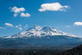Snowcapped Mount Shasta volcano during winter Royalty Free Stock Photo