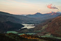Snowdon dawn welsh yr wyddfa pronounced əɾ ˈwɨ̞ðva is the highest mountain in wales at an elevation of metres ft above sea Royalty Free Stock Image