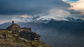 Snowdon from dinorwig view across the pass to the slopes of in evening light the top of the slate quarries llanberis snowdonia Royalty Free Stock Photos