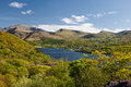 Snowdon and llanberis a view of mount padarn lake the town of a very popular location for the tourists who visit north wales Royalty Free Stock Photo