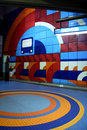 Snowdon metro station in montreal canada artwork on a platform Stock Images