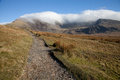 Snowdon Ranger path. Royalty Free Stock Photo