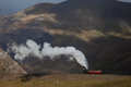 Snowdon steam train views from the highest mountain in england and wales Royalty Free Stock Image