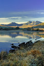 Snowdonia mountains from Llynnau Mymbyr Royalty Free Stock Photo
