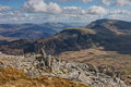 Snowdonia National Park and an old Iron Age fort Royalty Free Stock Photography