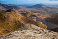Snowdonia national park views from snowdon the highest mountain in england and wales Stock Photography