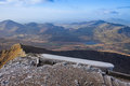 Snowdonia national park views from snowdon the highest mountain in england and wales Stock Photos