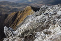 Snowdonia national park views from snowdon the highest mountain in england and wales Royalty Free Stock Photo