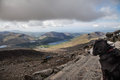 Snowdonia national park views from snowdon mountain railway Stock Photography