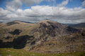 Snowdonia national park views from snowdon mountain railway Royalty Free Stock Photos