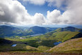Snowdonia view across from the llanberis pass wales Royalty Free Stock Images
