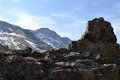 Snowdonia views looking over the rocky hillside in Stock Photography