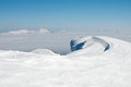 Snowdrift in the mountains Stock Photography