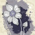 Snowdrop flower on crumpled paper background vector illustration Royalty Free Stock Photography