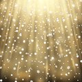 Snowfall on black background, golden color Royalty Free Stock Photo