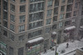 Snowfall in Toronto, Canada