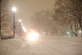 Snowfall in washington d c capital of usa Royalty Free Stock Photos
