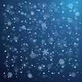 Snowfall in winter abstract background Royalty Free Stock Images