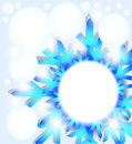 Snowflake abstract background. Royalty Free Stock Image