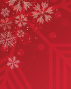Snowflake Background Stock Photography