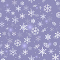Snowflake background seamless texture with falling snowflakes Stock Photo
