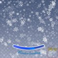 Snowflake background vector. Christmas snow fall decoration effect. Transparent pattern. Winter loading concept Royalty Free Stock Photo