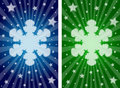 Snowflake banners Stock Photo