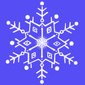 Snowflake on a blue background white gradient Stock Photo