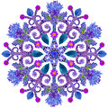 Snowflake from  blue summer flowers Royalty Free Stock Photo